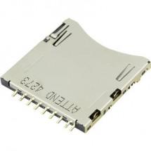 SD Zoccolo schede A pressione, A pressione Attend 104H-TDA0-R01 1 pz.