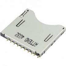 SD Zoccolo schede A pressione, A pressione Attend 104D-TCA0-R06 1 pz.