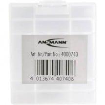 Contenitore portabatterie 4x Ministilo (AAA), Stilo (AA) Ansmann Box 4 (L x L x A) 67 x 55 x 22 mm