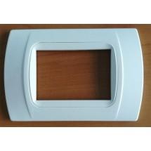 Placche Bianche Compatibili con Vimar Eikon, Arkè e Plana 3 posti moduli