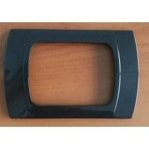 Placca Antracite Metallizzata Compatibile Vimar Plana, Eikon, Arkè 3 Posti
