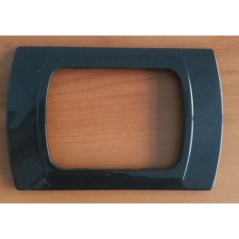 Placche Compatibili Vimar Plana, Eikon, Arkè colore Antracite Metallizzata, tecnopolimero verniciato, 3,4,7 moduli.