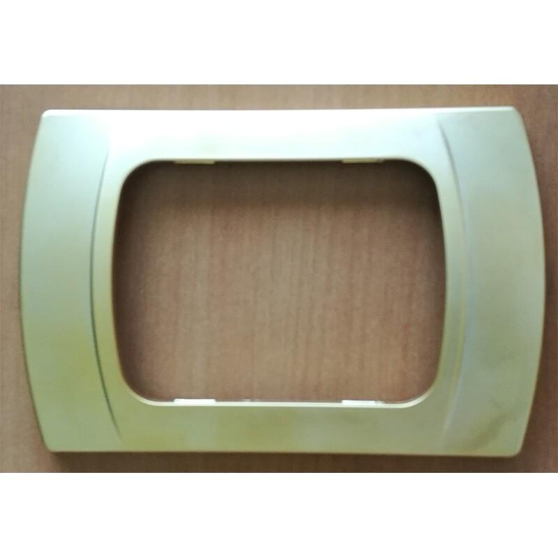 Placca Oro Opaco Compatibile con Vimar Plana, Arkè, Eikon, colore Oro Opaco,fabbricata in tecnopolimero verniciato