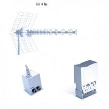 Kit 4 Antenna Fracarro LTE 217924 BLU10HD + MAP541LTE + MINI POWER 12P