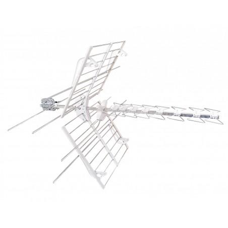 Antenna Blu Combo Lte Tv e Sat 8 Elementi Uhf Lte Vhf Connettore F Fracarro 217911