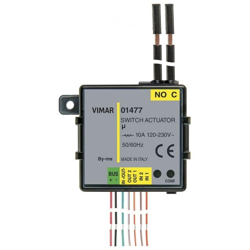 Modulo Domotico 2in 3out (1 relè+2 LED) Vimar 01477 Sistemi Bus prezzi costi offerte