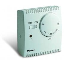 Termostato Meccanico Ambiente da Parete Perry Electric ad Espansione di Gas On/Off serie TEG 5-35°C