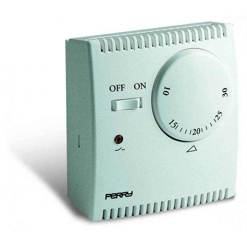 Termostato ambiente da parete perry electric espansione for Termostato perry manuale