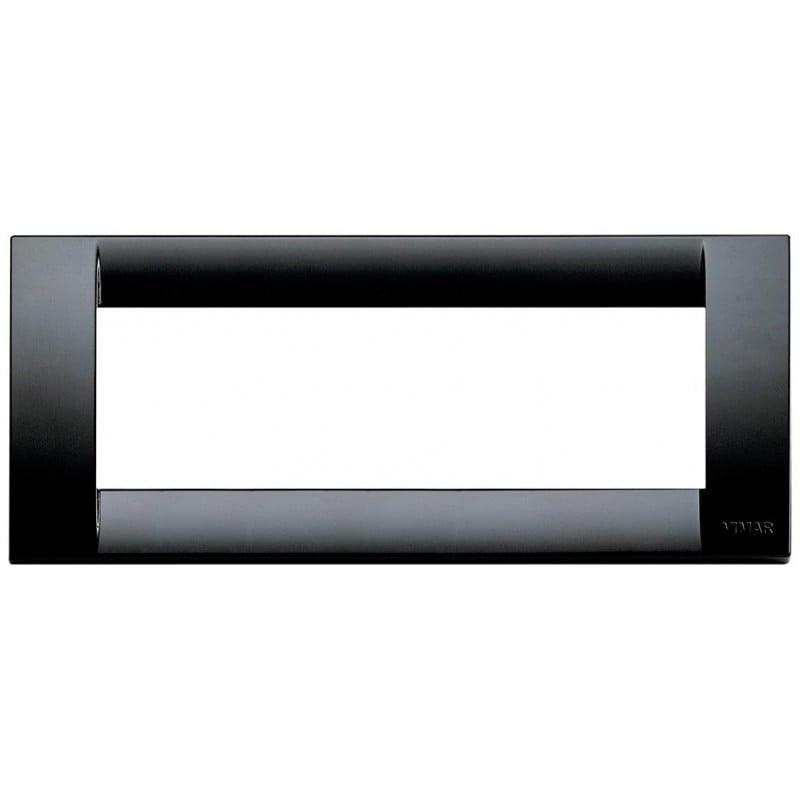 Placca Vimar Idea 16746.16 Classica Nera 6 posti Tecnopolimero Nero prezzi costi costo