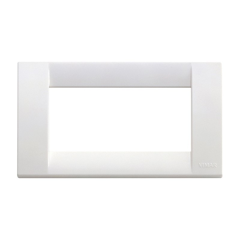 Placca Classica Vimar Idea 16744.01 4 Posti Bianco Brillante prezzi costi costo