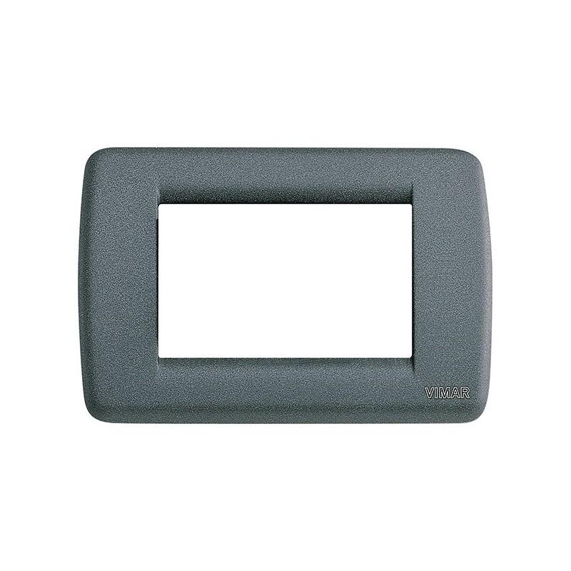Placca Rondò Vimar Idea 16753.46 3 Moduli in Metallo Ardesia costi prezzi