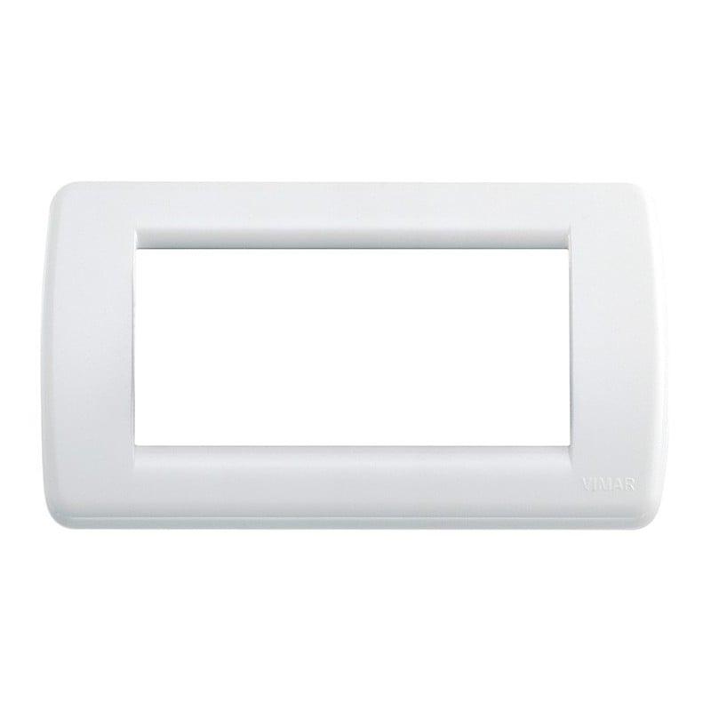Placca Vimar Idea 16764.01 Rondò 4 Posti Bianco Brillante Tecnopolimero prezzi