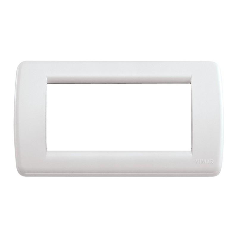 Placca Vimar Idea Rondò 16764.04 4 Moduli Bianco Tecnopolimero prezzi costi costo