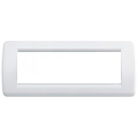 Placca Vimar Idea 16766.01 Rondò Bianco Brillante 6 Posti Tecnopolimero