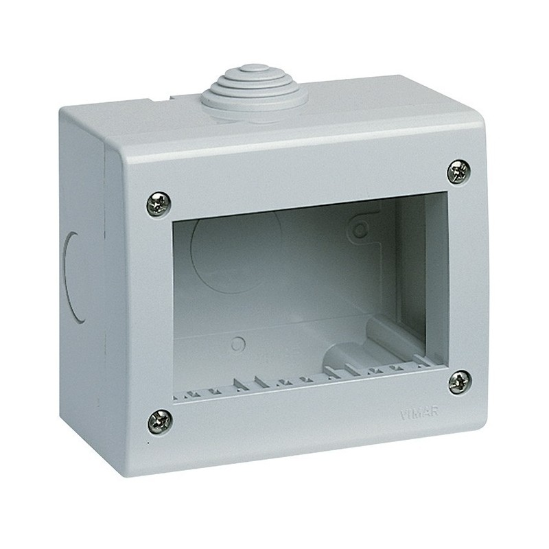 Contenitore Protettivo 3 Moduli IP40 Vimar 13033 Idea e 8000sp Grigio prezzi costi costo