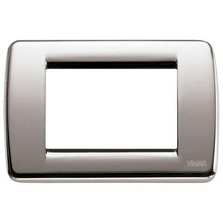 Placca in Metallo Vimar Idea 16753.34 Rondò Nichel Spazzolato 3 Posti
