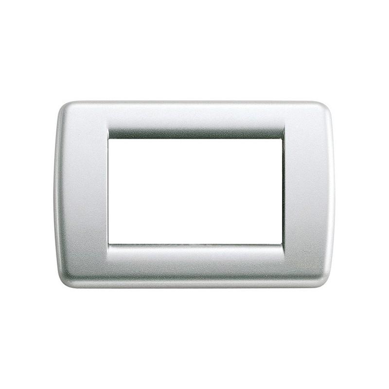 Placca Vimar Idea 16753.21 Rondò in Metallo Argento Metallizzata 3 Posti prezzi costi costo
