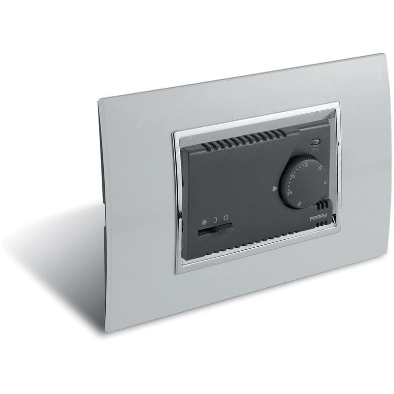 Termostato Ambiente Universale ad Incasso Perry Electric serie Modulo 230V