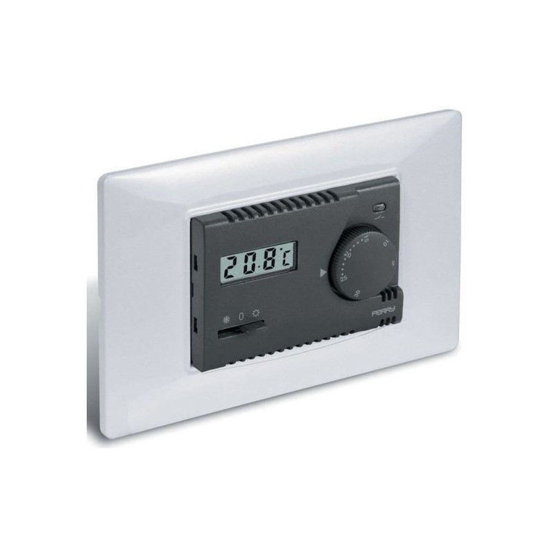 Termostato Meccanico con Display Perry Electric serie Modulo 230V