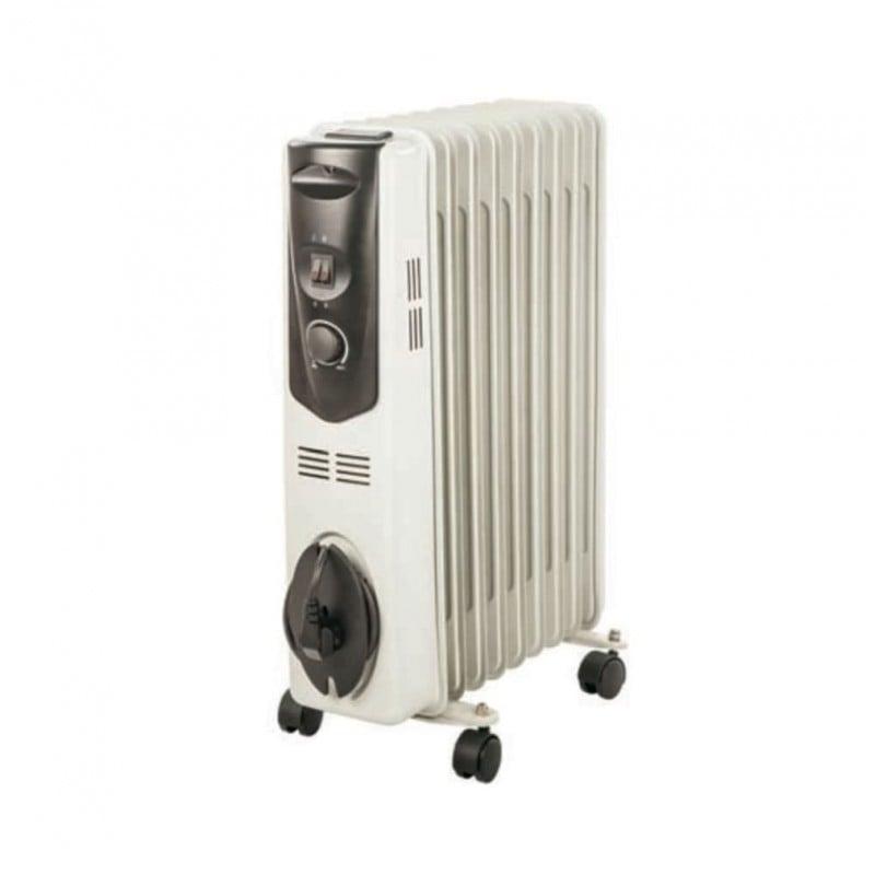 Radiatore Elettrico Portatile ad Olio Sahara 2503 11 Elementi 2500W con Termostato