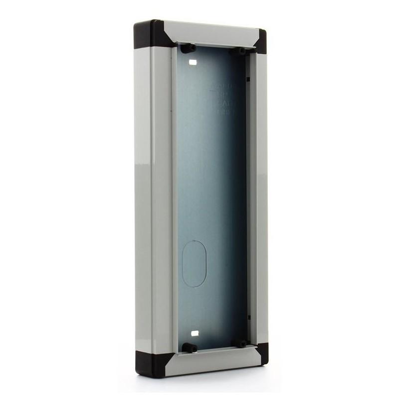 ELVOX 9312 Scatola da parete per 2 moduli, da abbinare alla cornice parapioggia 9212, grigio luce RAL 7035