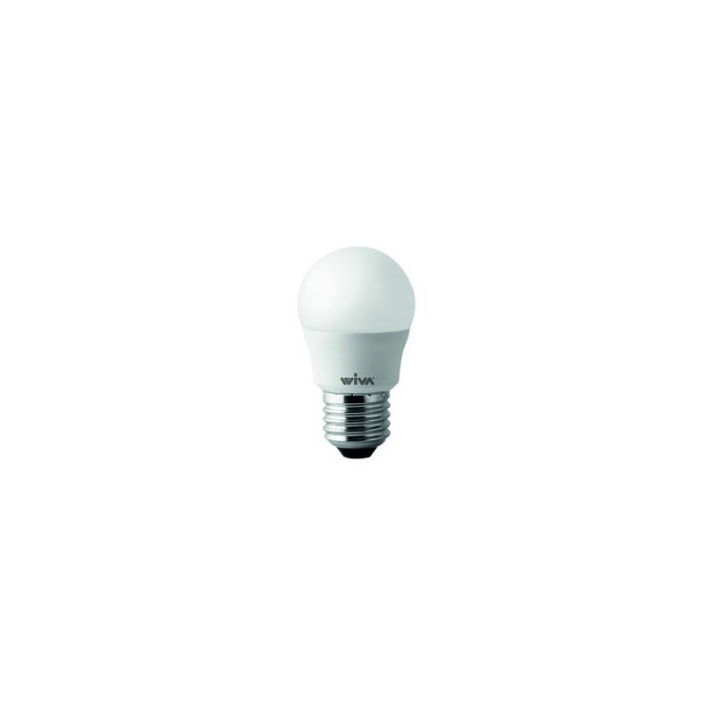 Lampadina led wiva 12100221 led basic sfera opale e27 for Lampadine faretti led luce calda