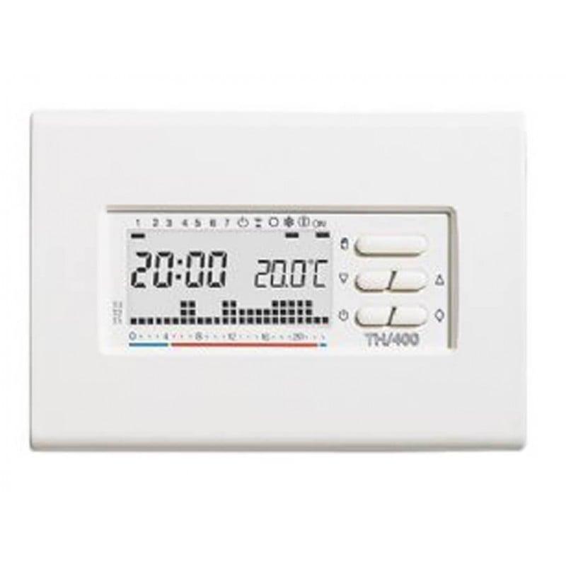 Bpt th 400 cronotermostato settimanale da parete bianco for Termostati bpt prezzi