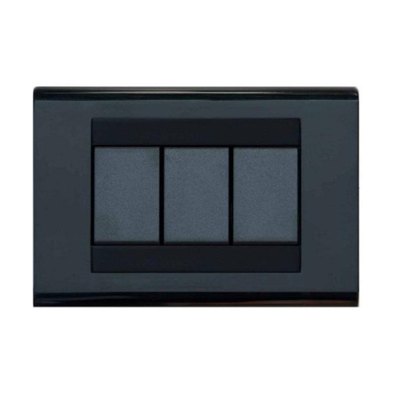 Placca compatibile con bticino living classica nero 3 4 for Termostato living bticino