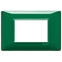 Placca 3 Moduli Reflex Smeraldo Vimar Plana 14653.47 Tecnopolimero
