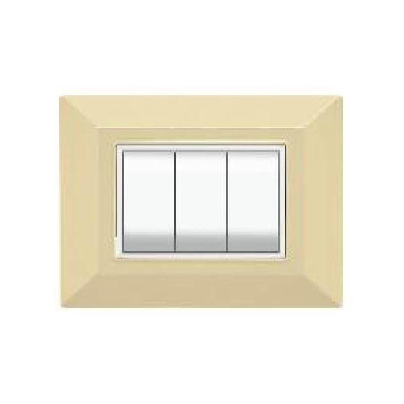 Placca Compatibile Bticino Luna Avorio 3, 4, 7 Posti Tecnopolimero
