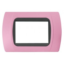Placca Rosa Pastello Compatibile Bticino International e LivingLight 3,4,7 Posti