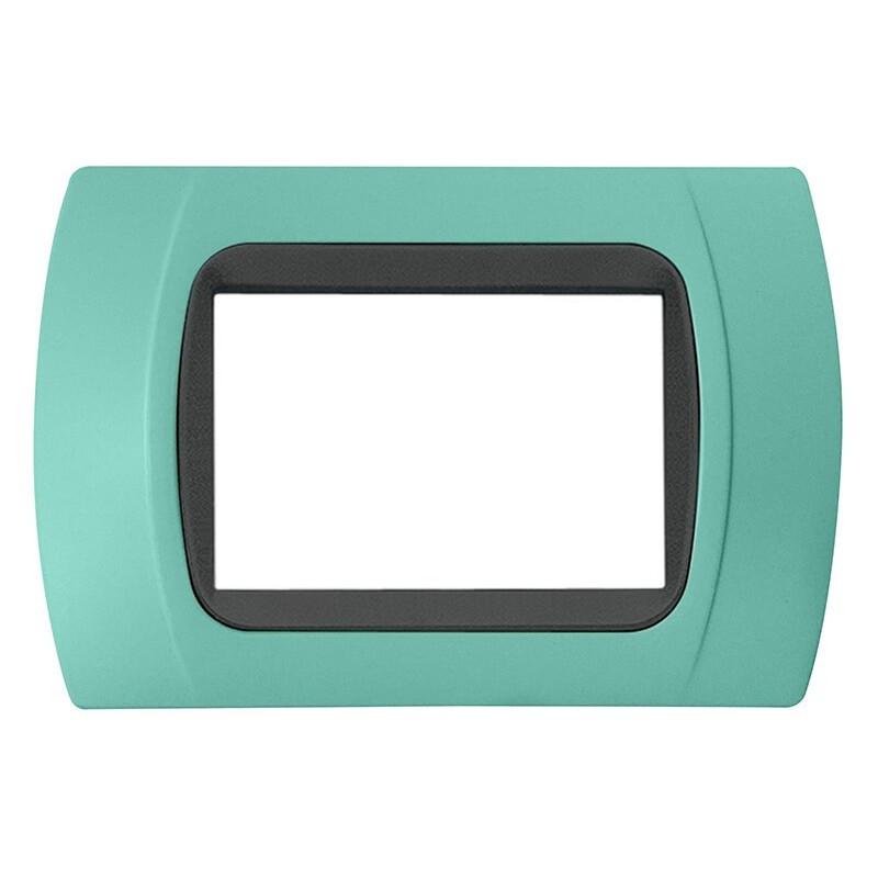 Placca Verde Acqua Pastello Compatibile Bticino International e LivingLight 3,4,7 Posti