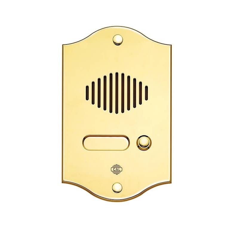 Campanello con Pulsantiera in Ottone Lucido non Verniciato 1 Pulsante Citofono e Videocitofoni
