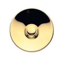 Campanello Tondo in Ottone Lucido per Casa con Vernice Protettiva Diametro 55mm
