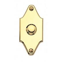 Campanello Sagomato in Ottone Lucido con Vernice Protettiva 40x85mm