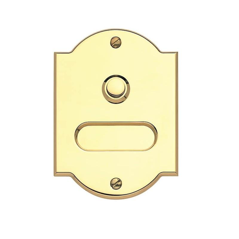 Campanello per Casa con 1 Pulsante e Targa Porta Nome in Ottone Lucido 80x120mm