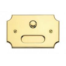 Campanello Sagomato con Targhetta Porta Nome in Ottone Lucido con Vernice Protettiva 80x125mm