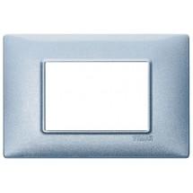 Vimar 14653.73 - Placca 3 Moduli Blu