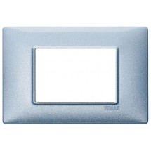 Vimar Plana 14653.73 - Placca 3 Moduli Blu in Metallo