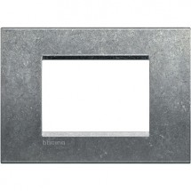 Placca Quadra 3 Posti Bticino LivingLight LNA4803NA Native in Metallo