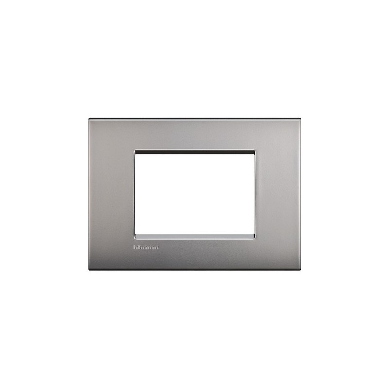 Placca Bticino Living Light Air 3 Moduli Nichel Satinato in Metallo LNC4803NK prezzi costi costo