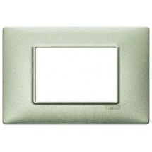 Vimar Plana 14653.72 - Placca 3 Moduli Verde metallizzato