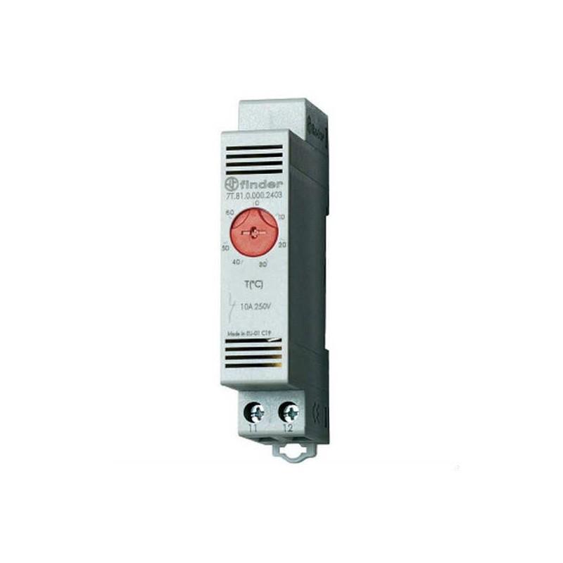 Termostato a Contatto Regolabile per Tubazioni Finder 0/60°C Normalmente Chiuso 7T8100002403
