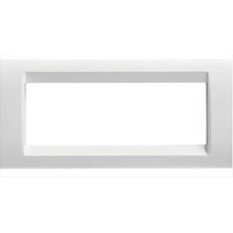 Placca Bianco Nuvola Lucido 6 Posti Gewiss Playbus 32026 prezzi costi costo