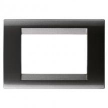 Placca 3 Moduli Ardesia Metallizzato Tecnopolimero Gewiss 32003 Playbus