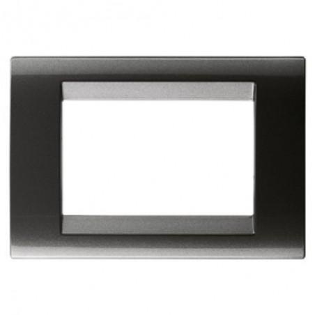 Placca 3 Posti Ardesia Metallizzato Tecnopolimero Gewiss 32003 Playbus prezzi costi costo