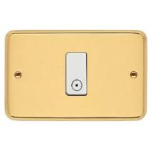Placca Ottone Lucido Compatibile con Vimar serie 8000 1,2,3,4,5 Posti
