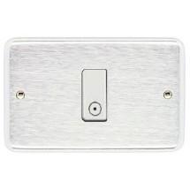 Placca Cromo Satinato Compatibile con Vimar serie 8000 1,2,3,4,5 Posti