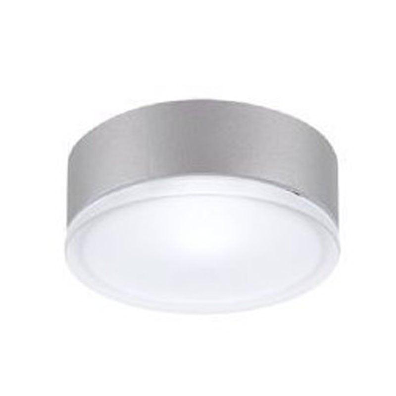 Plafoniera da Soffitto o Parete, colore grigio, assorbimento 100 watt, attacco E27, per esterni o interni.