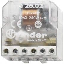 Interruttore impulso Incasso 1 pz. Finder 26.02.8.012.0000 2 NA 12 V/AC 10 A 2500 VA